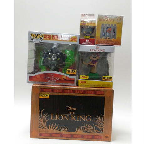 【USA直輸入】DISNEY FUNKO Treasures トレジャーズ ライオンキング ボックス POP! スカー ノーマルVer フィギュア ポップ ティモン エド ザズー  Lion King