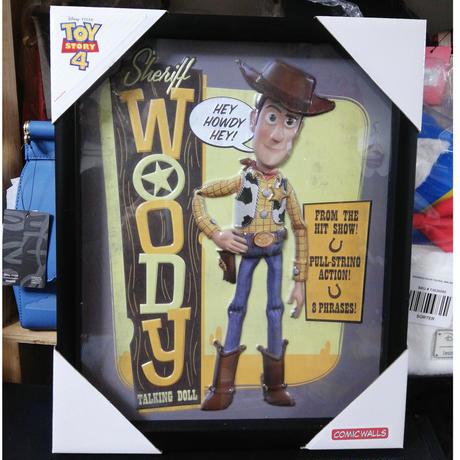 【USA直輸入】Disney トイストーリー ウッディ モルデット シャドウ ボックス ウォールアート ポスター 額付き 看板 Toy Story トイストーリー Woody