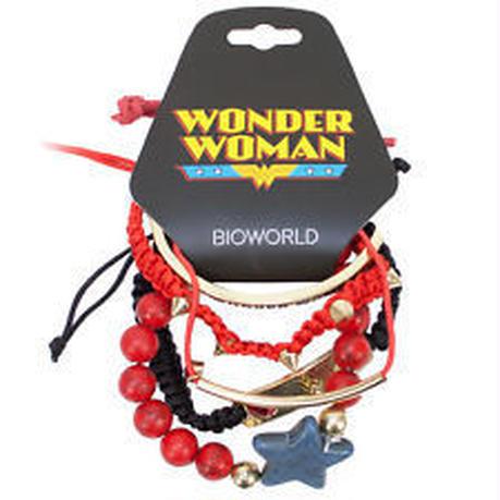 【USA直輸入】DCコミックス ワンダーウーマン ブレスレット SET レッド WONDER  WOMAN