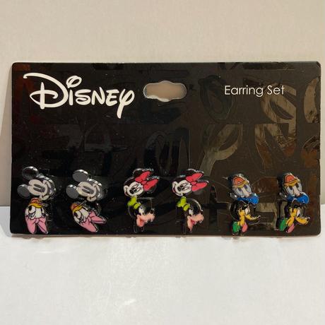 【USA直輸入】Disney ディズニー センセーショナルシックス ピアス 6種セット ミッキーマウス・ミニーマウス・ドナルド・デイジー・グーフィ・プルート アクセサリー イヤリング