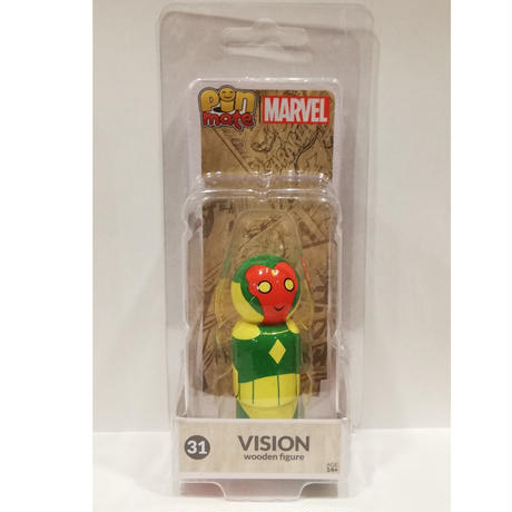 【USA直輸入】MARVEL Pin Mate ピン メイト 木製 フィギュア マーベル ヴィジョン Vision 31 2インチ アベンジャーズ ビジョン
