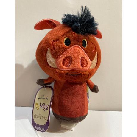 【USA直輸入】Disney ディズニー ライオンキング プンバァ  Pumbaa  ぬいぐるみ ittybittys  約10cm hallmark イッティビッティズ ライオン・キング