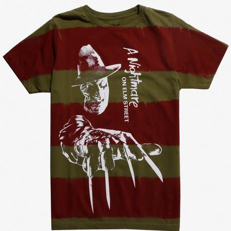 【USA直輸入】エルム街の悪夢 フレディ・クルーガー ストライプ柄 Tシャツ   Sサイズ ホラー 殺人鬼 鉄の爪