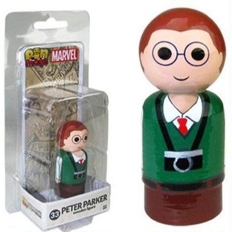 【USA直輸入】MARVEL Pin Mate ピン メイト 木製 フィギュア マーベル ピーターパーカー 33 2インチ フィギュア スパイダーマン Spider-Man