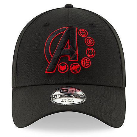 【USA直輸入】MARVEL マーベルスタジオ スタジオ10周年記念  アベンジャーズ エンドゲーム ロゴ 39Thirty  ニューエラ NEWERA 帽子 マーベル クルーキャップ