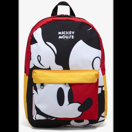 【USA直輸入】DISNEY ミッキーマウス  カラーブラック ボディ パーツ柄 バックパック ラップトップ ポケット付き リュック ディズニー ミッキー