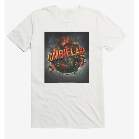 【USA直輸入】Zombieland ゾンビランド Tシャツ  白地 ホラー コメディ ゾンビ 32のルール  ウディ・ハレルソン ジェシー・アイゼンバーグ エマ・ストーン