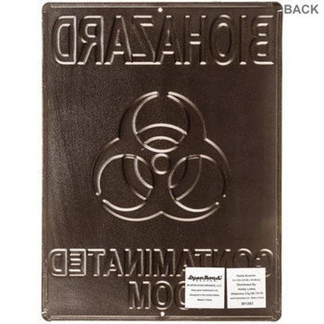 【USA直輸入】ブリキ看板 バイオハザード 汚染された部屋 壁掛け メタルサイン 看板 インテリア  Biohazard