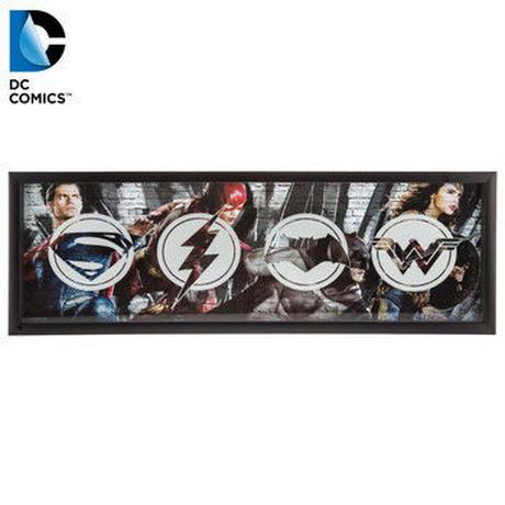 【USA直輸入】DCコミックス ロゴ フレーム ウォールデコ  看板 ジャスティスリーグ