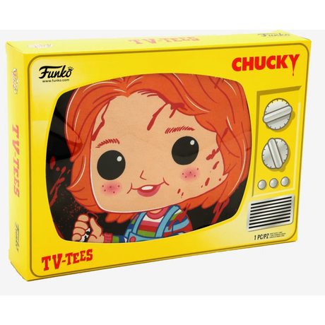 【USA直輸入】Child's Play チャイルドプレイ Chucky  チャッキー Funko Pop! Tシャツ  TVボックス入り ホラー グッドガイ グッドガイ人形