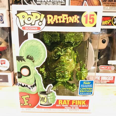 【海外直輸入】POP! RATFINK ラットフィンク メタリック グリーン 15 ポップ フィギュア FUNKO ファンコ Rat Fink ホットロッド