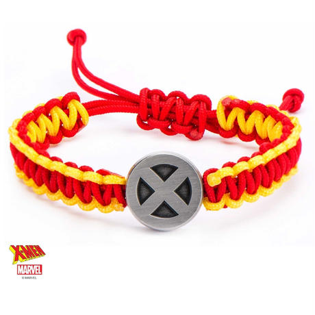【USA直輸入】MARVEL X-Men 赤 黄色 ロゴ パラコード ブレスレット マーベル アクセサリー Xメン エックスメン アイコン サイクロプス ウルヴァリン