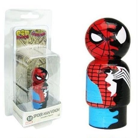 【USA直輸入】MARVEL Pin Mate ピン メイト 木製 フィギュア マーベル アメイジングスパイダーマン スパイダーマン & ヴェノム 10 2インチ ベノム Spider-Man