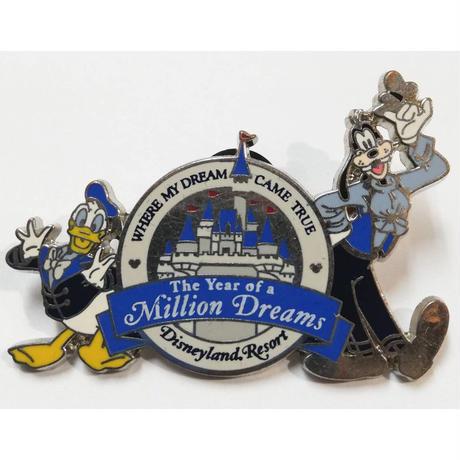 【USA直輸入】DISNEY ドナルドダック &グーフィ ピン The Year of a Million Dreams ピントレーディング ピンズ ピンバッジ ディズニー ドナルド