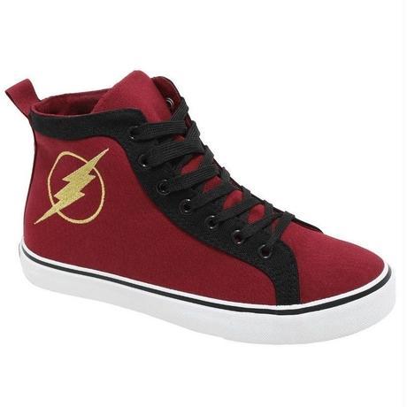 【USA直輸入】DCコミックス フラッシュ ハイトップ スニーカー ハイカット シューズ 靴 26センチ SHOES