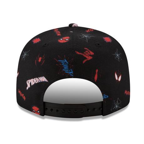 【USA直輸入】MARVEL スパイダーマン ピーターパーカー マイルズ ロゴ 9Fifty キャップ  スナップバック ニューエラ NEWERA  帽子 マーベル Spiderverse
