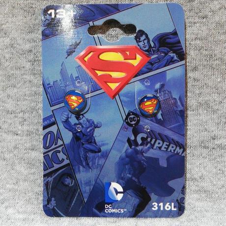 【USA直輸入】DCコミックス スーパーマン ロゴ 丸形 ピアス アクセサリー イヤリング DC ジャスティスリーグ