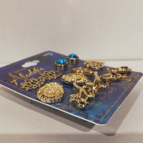 【USA直輸入】Disney アラジン ジャスミン ピアス セット ディズニー アクセサリー プリンセス Aladdin  ジーニー 魔法のランプ ジャファー イヤリング