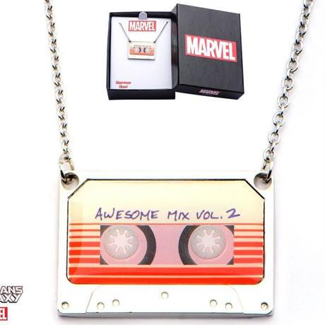 【USA直輸入】MARVEL ガーディアンズオブギャラクシー Awesome Mix Vol. 2  カセットテープ ネックレス マーベル アベンジャーズ  ガーディアンズ オウサム