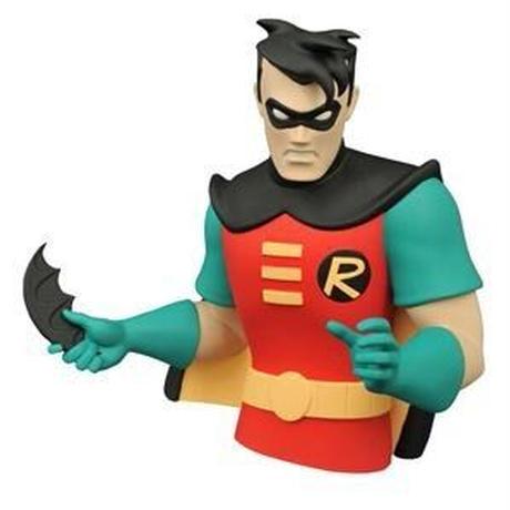 【USA直輸入】DCコッミクス ロビン アニメイテッド バストバンク 貯金箱 ソフビ バットマン Robin DC