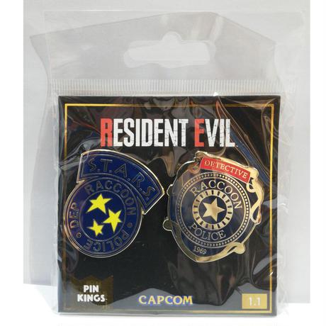 【USA直輸入】バイオハザード  RESIDENT EVIL レジデントイービル ラクーン市警 S.T.A.R.S. PIN KINGS ピン キング 1.1 エナメルピンバッジ  2個セット