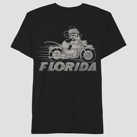 【USA直輸入】DISNEY  ミッキーマウス バイク グラフィック FLORIDA 黒地 Tシャツ Mサイズ ディズニー ミッキー