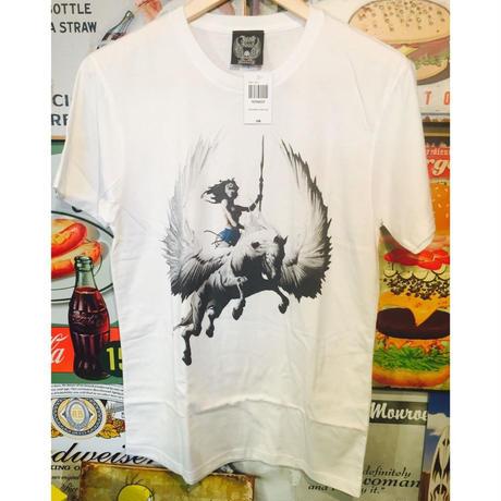 【USA直輸入】DC ワンダーウーマン ペガサス ホワイト Tシャツ DCコミックス