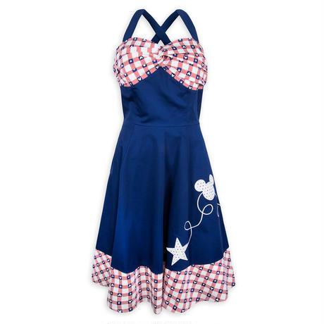 【USA直輸入】DISNEY ミッキーマウス アメリカーナ ドレス ワンピース ドレスショップ DRESS SHOP ディズニー ミッキー Dハロ