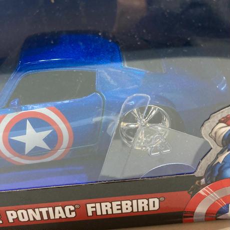 【USA直輸入】MARVEL マーベル キャプテンアメリカ 1972 Pontiac Firebird ポンティアック ファイヤーバード ダイキャストカー Jada 1:32 ミニカー ダイキャスト