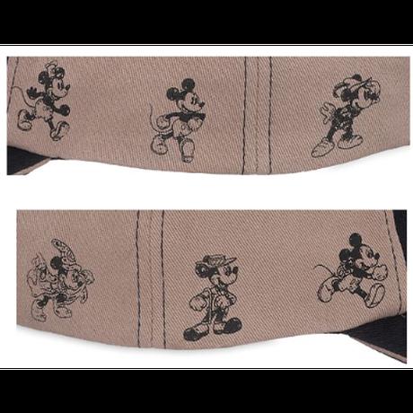 【USA直輸入】DISNEY ミッキーマウス ''Through the Years''  ベースボール キャップ ハット  帽子 マジックテープ ディズニー スクリーンアート ファンタジア ミッキー