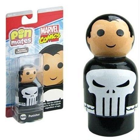 【USA直輸入】MARVEL Pin Mate ピン メイト 木製 フィギュア マーベル コミックス パニッシャー Punisher S05   2インチ Pin Mates