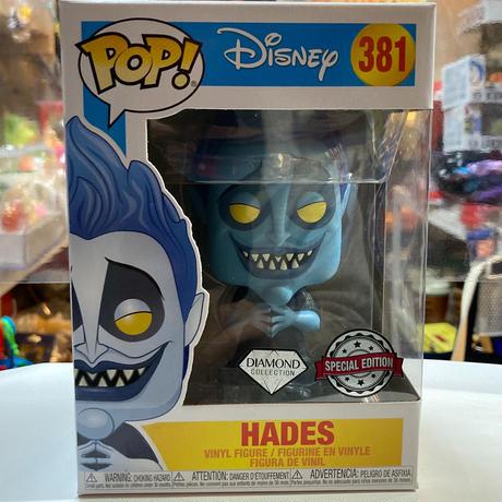 【海外直輸入】POP! DISNEY ヘラクレス ハデス HADES ダイヤモンドコレクション 青色 381 ポップ フィギュア FUNKO ファンコ ディズニー  ヴィランズ