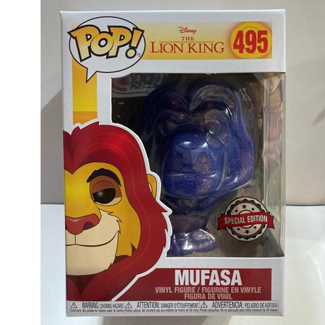 【海外直輸入】POP! DISNEY ライオンキング 天から見守る ムファサ 495 ポップ! FUNKO 青いラメ ファンコ ディズニー フィギュア シンバ