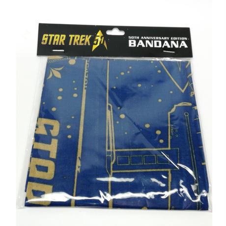 【USA直輸入】スタートレック 50thアニバーサリー バンダナ U.S.S. Enterprise NCC-1701 エンタープライズ スタトレ  Star Trek TNG  TOS