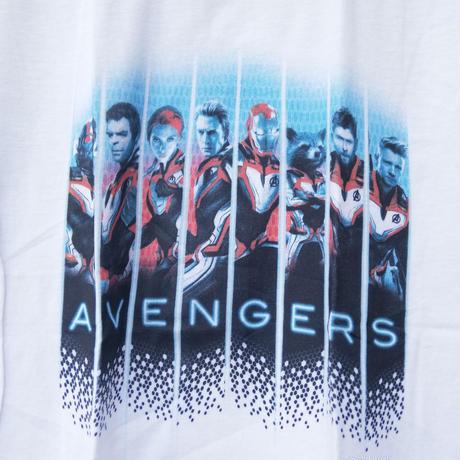 【USA直輸入】MARVEL アベンジャーズ エンドゲーム グリッド パネル 量子スーツ Tシャツ マーベル 映画 MCU チームスーツ