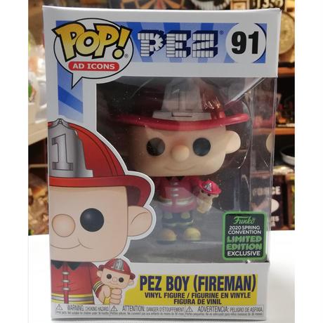 【USA直輸入】POP! AD ICONS PEZ  PEZ BOY 消防士 91 ポップ フィギュア FUNKO ファンコ 企業  ペッツ ファイヤーマン 企業