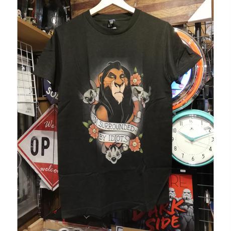 【USA直輸入】DISNEY ライオンキング スカー  タトゥー Tシャツ ハイエナ ディズニー  ヴィランズ  Lion king シェンジ バンザイ エド