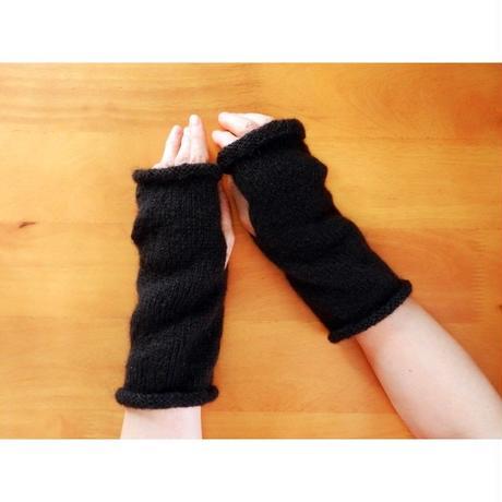 Black  ハンドウォーマー/指なし手袋 05