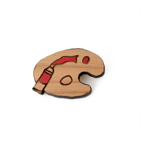 木のブローチ パレット