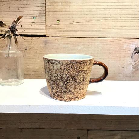 コルク面取コーヒーカップ(茶)