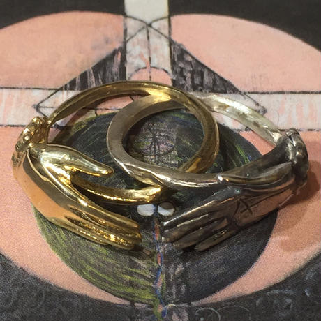 Hand in  hand RING2連(gold✖️silver)