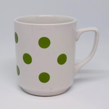 ルーマニア APULUM社マグカップ 緑水玉