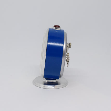 旧ソ連 ゼンマイ式 手巻き時計 SLAVA 青 シルバー