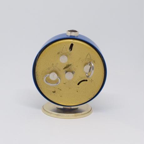旧ソ連 ゼンマイ式 手巻き時計 SLAVA 青 ゴールド