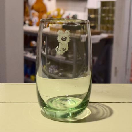 モスクワオリンピック こぐまのミーシャ グラス グリーン