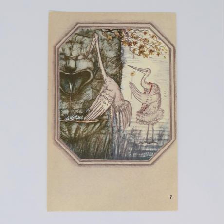 旧ソ連「アオサギとツル」 ポストカード 1982年⑦