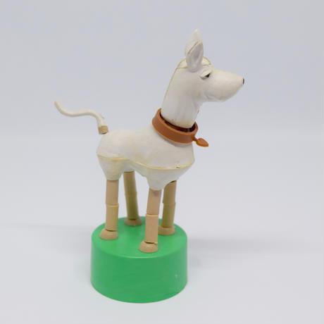 ハンガリー くにゃくにゃ人形 白い犬