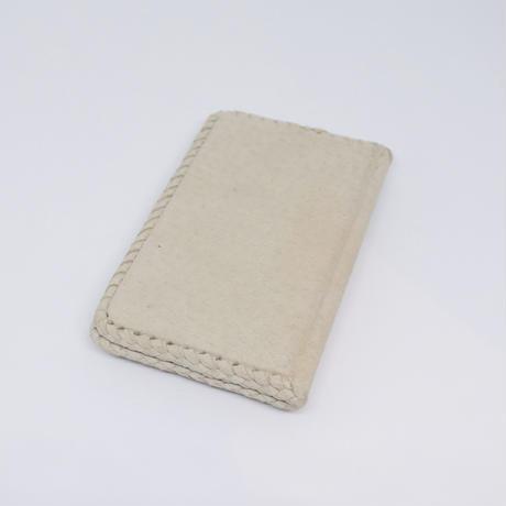 ラトビア レザーカバーの手作りノート