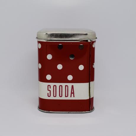 旧ソ連時代 エストニア NORMA社 ドット柄のティン缶 1980年代 大①