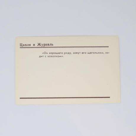 旧ソ連「アオサギとツル」 ポストカード 1982年⑥
